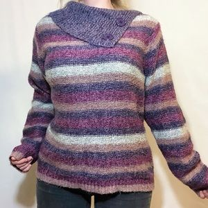 Vintage Chicago Collection striped knit sweater